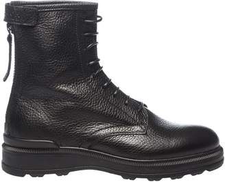 Woolrich Hammered Laced-Up Ankle Boots