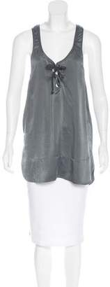 Isabel Marant Silk Lace-Up Top