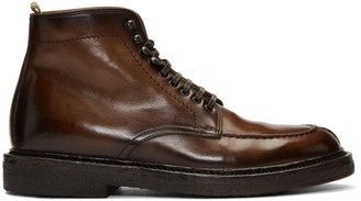 Officine Creative Brown Stanford 207 Boots