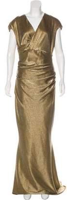 Talbot Runhof Sleeveless Evening Gown
