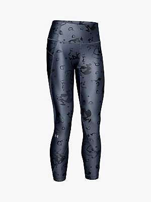 Under Armour HeatGear Armour Ako Print Training Tights, Grey