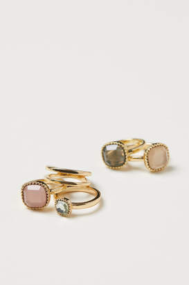 H&M 5-pack Rings - Gold