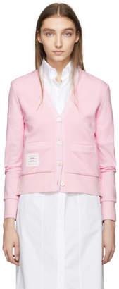 Thom Browne Pink Classic Stripe Cardigan