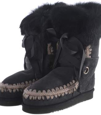 Mou Lace And Fur Ankle Boots
