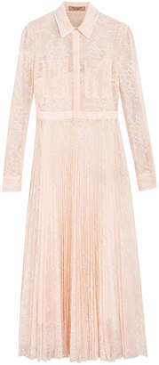Burberry Pleated Lace Dress