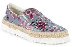 Valentino Floral Leather Loafers