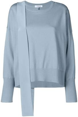 Schumacher Dorothee mixed fabric paneled knit top