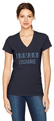 Armani Exchange A|X Women's Block Letter Logo T-Shirt