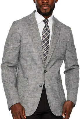 STAFFORD Stafford Merino Flannel Stretch Micro Houndstooth Classic Fit Sport Coat