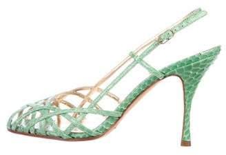 Dolce & Gabbana Snakeskin Multi-Strap Sandals