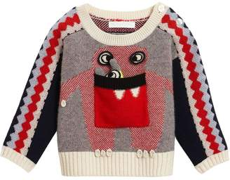 Burberry Monster Intarsia Cashmere Sweater