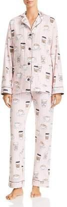 PJ Salvage Rise & Grind Coffee Print Cotton Pajama Set