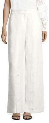 Robert Rodriguez Linen Wide Leg Pants