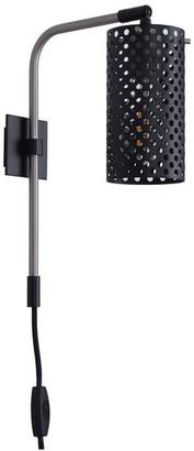 Linea di Liara Gemma Plug-in Wall-Mounted Lamp, Brushed Nickel