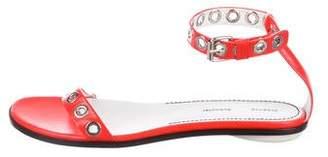 Proenza Schouler Leather Grommet Sandals
