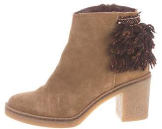 Miista Fringe-Accented Suede Ankle Boots