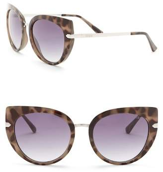 GUESS 55mm Cat Eye Sunglasses