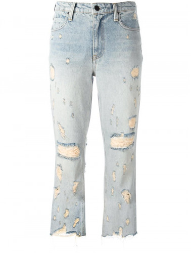 Alexander Wang Alexander Wang distressed cropped jeans