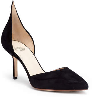 Francesco Russo Black suede 75 pumps