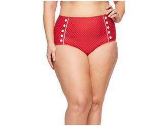 Unique Vintage Plus Size Phillipa Sailor Bottom Women's Swimwear