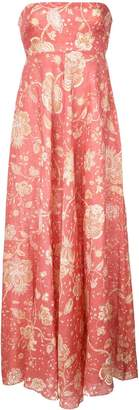 Zimmermann floral print bandeau maxi dress