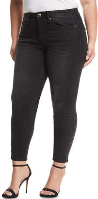 Seven7 Jeans High-Rise Skinny Ankle-Zip Jeans, Plus Size