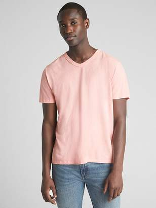 Classic V T-Shirt in Cotton-Linen