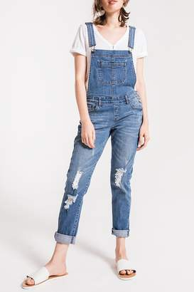 Others Follow Distressed Denim Overalls