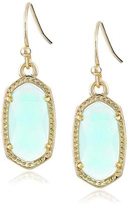 Kendra Scott Signature Lee Earrings in Gold Plated and Chalcedony Glass