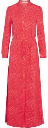 MICHAEL Michael Kors Snake-Print Silk-Crepe Maxi Dress