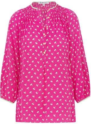 Libelula Hartford Top Hot Pink Palm Tree Print