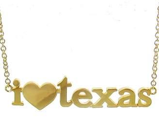Jennifer Meyer I Love Texas Necklace - Yellow Gold