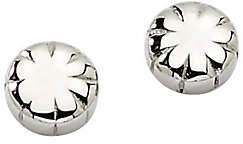 Steel by Design Stainless Steel Polished Floral Stud Earrings