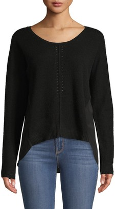 Qi New York Cashmere & Silk Combo HIgh-Low Top