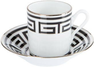 Richard Ginori 1735 - Labirinto Coffee Cup & Saucer - Nero