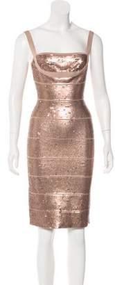 Herve Leger Katherine Sequined Dress