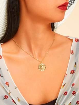 Shein Lion Head Pendant Chain Necklace 1pc