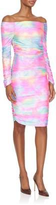 Sies Marjan Jolene Off The Shoulder Tie Dye Dress