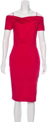 Christian Dior Off-The-Shoulder Knee-Length Dress