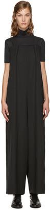 Yohji Yamamoto Black Wool Jumpsuit $1,460 thestylecure.com