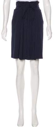 Les Copains Pinstriped Pleated Skirt