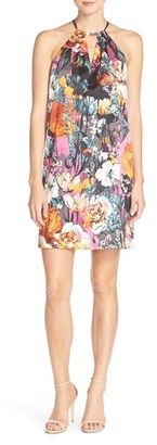 Women's Eci Print Halter Shift Dress $98 thestylecure.com