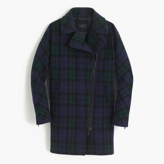 Petite zippered coat in Black Watch tartan $378 thestylecure.com