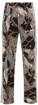 Palm Angels Scarf Print Jersey Track Pants - Mens - Multi