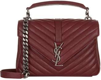 Saint Laurent Medium Matelasse Leather College Shoulder Bag