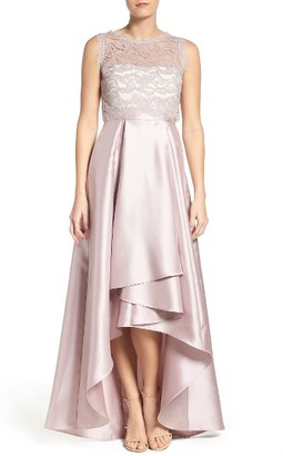 Women's Adrianna Papell Lace & Mikado Ballgown $189 thestylecure.com