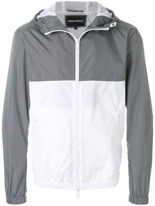 Emporio Armani panelled rain jacket
