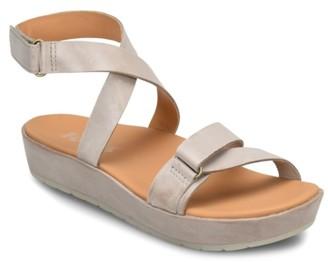 KORKS Teal Platform Sandal