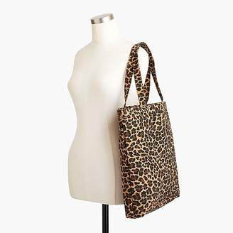 J.Crew Reusable everyday tote in leopard
