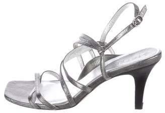 Taryn Rose Metallic Leather Sandals